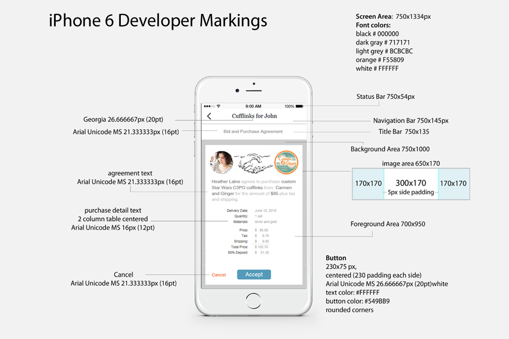 iPhone6 developer markings